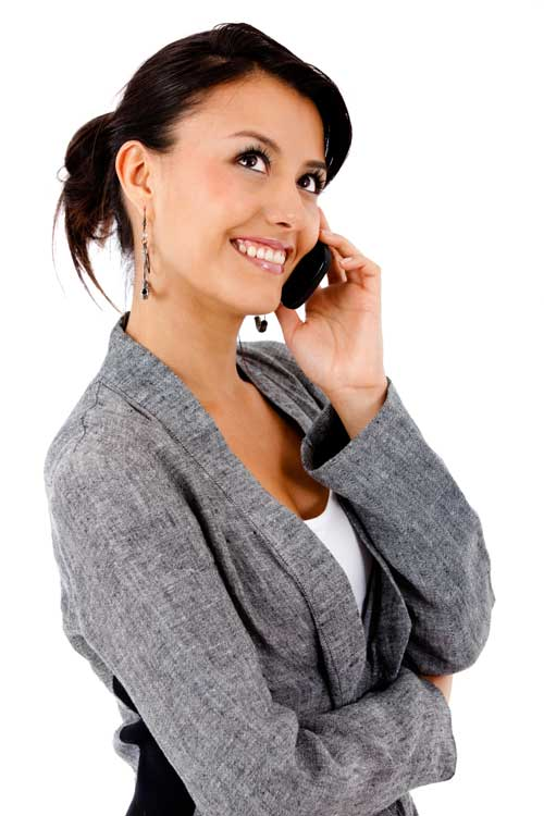 Woman calling over the phone - Predictive Response