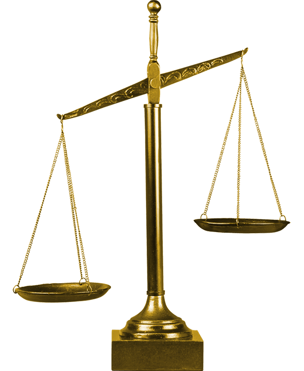 Gold scales representing Law & justice - Predictive Response